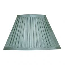 Duck Egg Box Pleat Faux Silk Lined Fabric Lamp Shade S650/20DE - Oaks Lighting